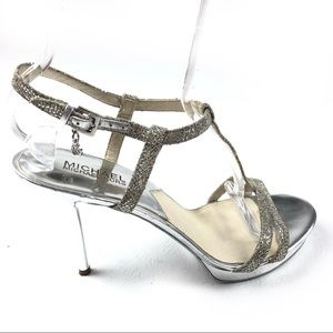 MICHAEL KORS sandals 9.5 glittery sequined strappy